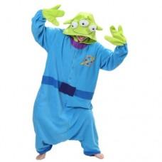 Alien Monster Jumpsuit Schlafanzug Kostüm Onesie