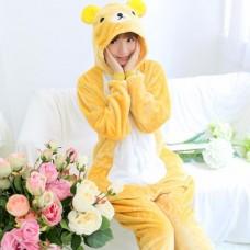 Bär gelb Jumpsuit Schlafanzug Kostüm Onesie