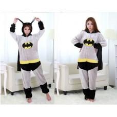 Batman Jumpsuit Schlafanzug Kostüm Onesie