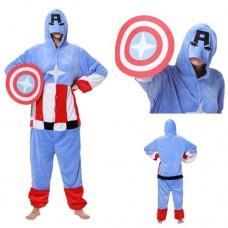 Captain America Jumpsuit Schlafanzug Kostüm Onesie