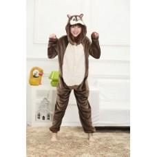 Eichhörnchen Chipmunk Jumpsuit Schlafanzug Kostüm Onesie