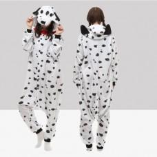 Dalmatiner Jumpsuit Schlafanzug Kostüm Onesie