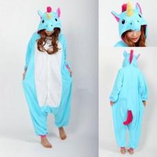 Einhorn blauweiss Jumpsuit Schlafanzug Kostüm Onesie