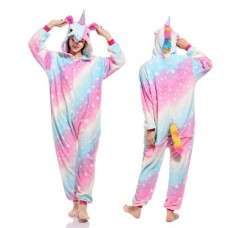 Einhorn Farbverlauf Jumpsuit Schlafanzug Kostüm Onesie