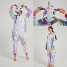 Einhorn 2 Jumpsuit Schlafanzug Kostüm Onesie