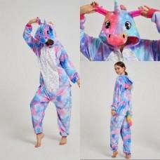 Einhorn 4 Jumpsuit Schlafanzug Kostüm Onesie