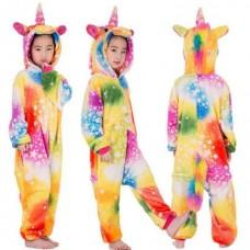 Einhorn Jumpsuit Schlafanzug Kostüm Onesie Kinder 2