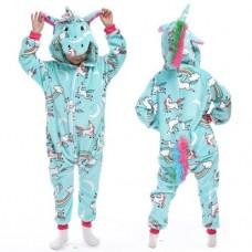 Einhorn Jumpsuit Schlafanzug Kostüm Onesie Kinder 3
