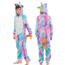 Einhorn Jumpsuit Schlafanzug Kostüm Onesie Kinder 8