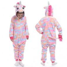 Einhorn Jumpsuit Schlafanzug Kostüm Onesie Kinder 10