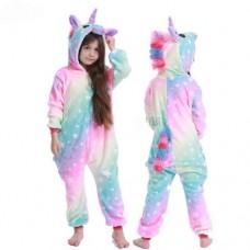 Einhorn Jumpsuit Schlafanzug Kostüm Onesie Kinder 14