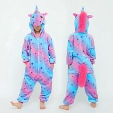 Einhorn Jumpsuit Schlafanzug Kostüm Onesie Kinder 15
