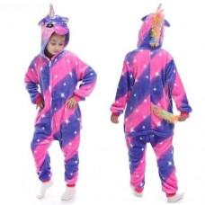 Einhorn Jumpsuit Schlafanzug Kostüm Onesie Kinder 16