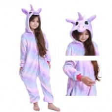 Einhorn Jumpsuit Schlafanzug Kostüm Onesie Kinder 17