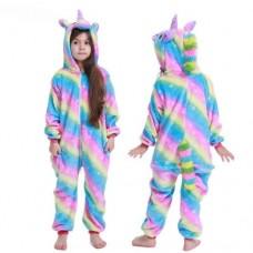 Einhorn Jumpsuit Schlafanzug Kostüm Onesie Kinder 18