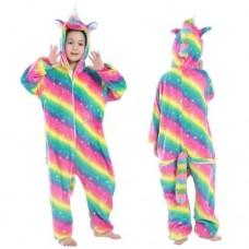 Einhorn Jumpsuit Schlafanzug Kostüm Onesie Kinder 19