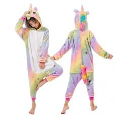 Einhorn Jumpsuit Schlafanzug Kostüm Onesie Kinder 20