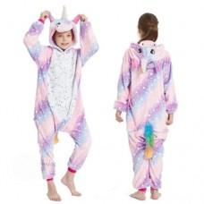 Einhorn Jumpsuit Schlafanzug Kostüm Onesie Kinder 4