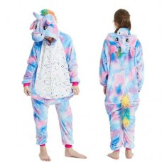 Einhorn Jumpsuit Schlafanzug Kostüm Onesie Kinder 5