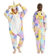 Einhorn Jumpsuit Schlafanzug Kostüm Onesie Kinder 6