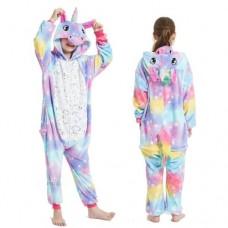 Einhorn Jumpsuit Schlafanzug Kostüm Onesie Kinder 7