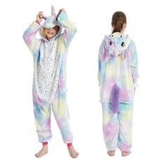 Einhorn Jumpsuit Schlafanzug Kostüm Onesie Kinder