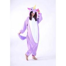 Einhorn lila/flieder Jumpsuit Schlafanzug Kostüm Onesie