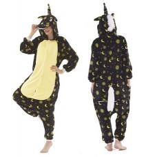 Einhorn Mond und Sterne Jumpsuit Schlafanzug Kostüm Onesie