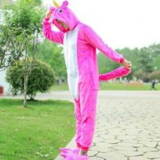 Einhorn pinkweiss Jumpsuit Schlafanzug Kostüm Onesie