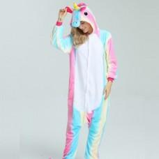 Einhorn Regenbogen Jumpsuit Schlafanzug Kostüm Onesie