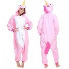 Einhorn rosaweiss Jumpsuit Schlafanzug Kostüm Onesie