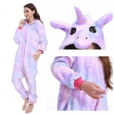 Einhorn sanfter Fabverlauf Jumpsuit Schlafanzug Kostüm Onesie