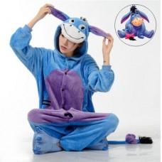 Esel Jumpsuit Schlafanzug Kostüm Onesie