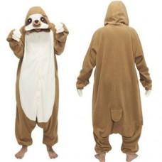 Faultier Sloth Jumpsuit Schlafanzug Kostüm Onesie