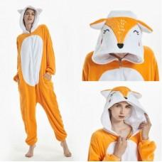 Fuchs Jumpsuit Schlafanzug Kostüm Onesie