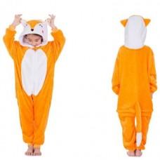 Kinder Fuchs Jumpsuit Schlafanzug Kostüm Onesie