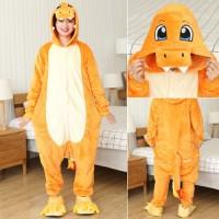 Glumanda (Pokemon) Jumpsuit Schlafanzug Kostüm Onesie