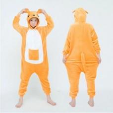 Kinder Känguru Jumpsuit Schlafanzug Kostüm Onesie