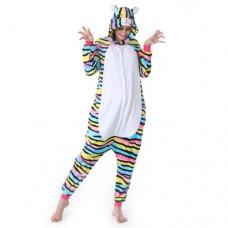 Farbige Katze Jumpsuit Schlafanzug Kostüm Onesie