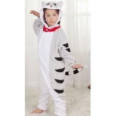 Kinder Katze Jumpsuit Schlafanzug Kostüm Onesie