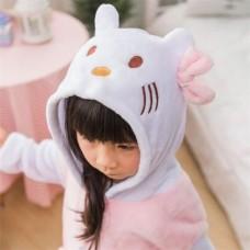 Kinder Hello Kitty Jumpsuit Schlafanzug Kostüm Onesie