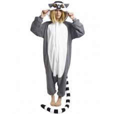 Lemur Jumpsuit Schlafanzug Kostüm Onesie
