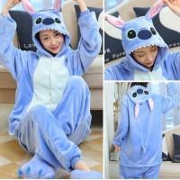 Lilo und Stitch blau Jumpsuit Schlafanzug Kostüm Onesie