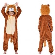 Kinder Löwe Jumpsuit Schlafanzug Kostüm Onesie
