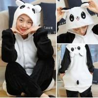 Panda Jumpsuit Schlafanzug Kostüm Onesie