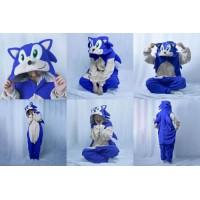 Sonic Igel Jumpsuit Schlafanzug Kostüm Onesie