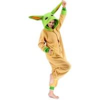 Yoda Jumpsuit Schlafanzug Kostüm Onesie